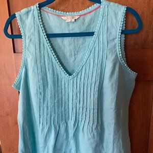 Teal Linen Summer Top